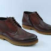 Демисезонные кожаные ботинки Faber мужские
