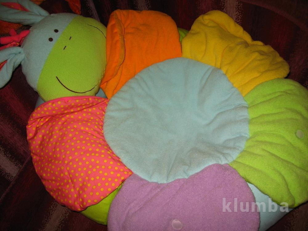 Развивающий надувной манеж, круг-гнездо-трон +игрушки фото №1