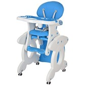 Бемби 3268 стульчик для кормления трансформер Bambi столик 2 в 1 высокий
