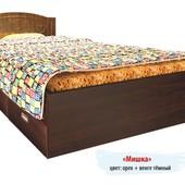 Гарантия 2 года! Кровать Мишка №4, 2 ящика, 90x190 см, укр. производство