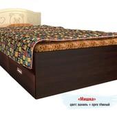 Гарантия 2 года! Кровать Мишка №5, 2 ящика, 70x140 см, укр. производство