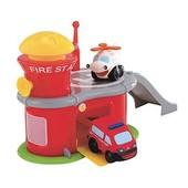 Пожарная станция с машинками 18м+