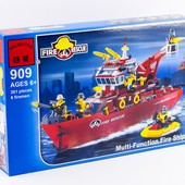 Конструктор Пожарные спасатели, 909 Brick , 361 деталь, Брик