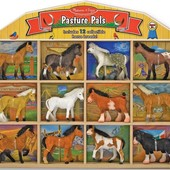 Фигурки лошадей с конюшней, Melissa&Doug