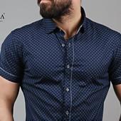 Мужские рубашки короткий рукав Турция.