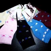 Акция! Новые женские носочки 36-42 р из хлопка (85%)