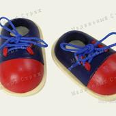 """Игрушка шнуровка """"Ботинки"""", в наборе 2 ботинка, деревянная развивающая игра"""