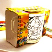 Чашка раскраскадля раскрашивания восковыми карандашами, подарочная упаковка, Укрпочта 10 грн