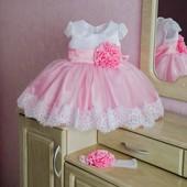 Очень красивое платье на годик Роза