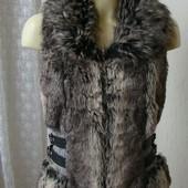 Жилет женский меховой бренд Amisu р.44 №4630а