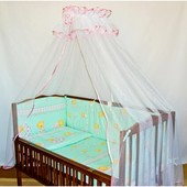 Защита на кровать (35 см) со съёмными чехлами (на молнии) на все стороны детской кровати