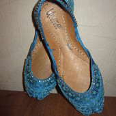 Стелька 20,5см Кожаная обувь для восточных танцев Unze London девочке
