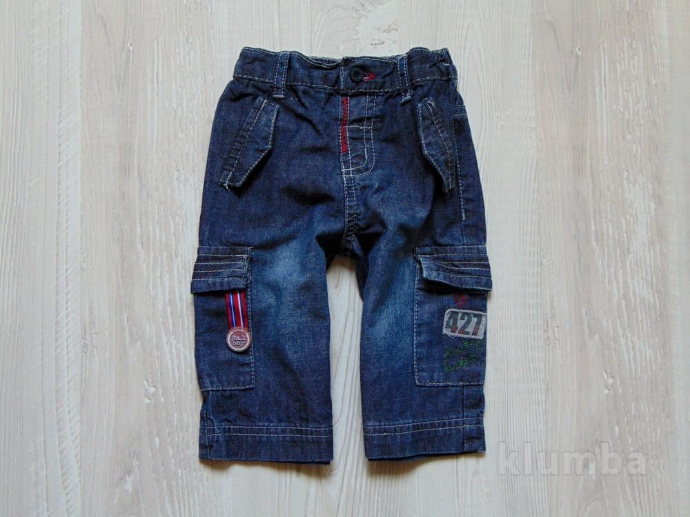 Стиляжные джинсики для мальчика. mamas&papas. размер 3-6 месяцев, будут дольше. состояние: идеальное фото №1