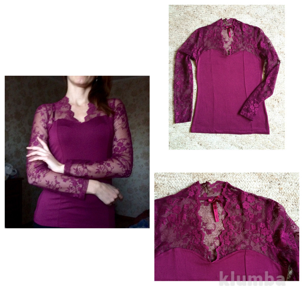 Красивая блуза гипюр s-m фото №1