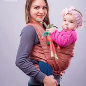 Слинг-шарф тм Наш слинг Моника жаккардовый от 0 до 2-х лет