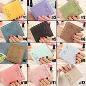 Женский компактный кошелек с искусственного нубука, 5 цветов, новый