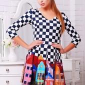 Платье молодежное трикотажное новое  L