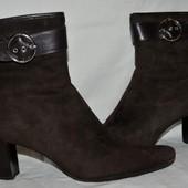 Сапоги ботинки зимние нубук модной и стильной 37 размер