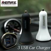 Автомобильное ЗУ Remax 3usb для смартфонов и планшетов
