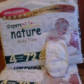 Памперсы nature baby care размеры  4 (72 штуки)