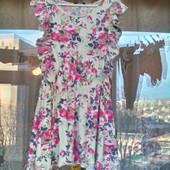 Нарядное цветочное платье George для девочки 7 -8 лет ( 122 -128)