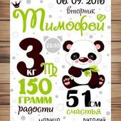 Постер метрика для малышей