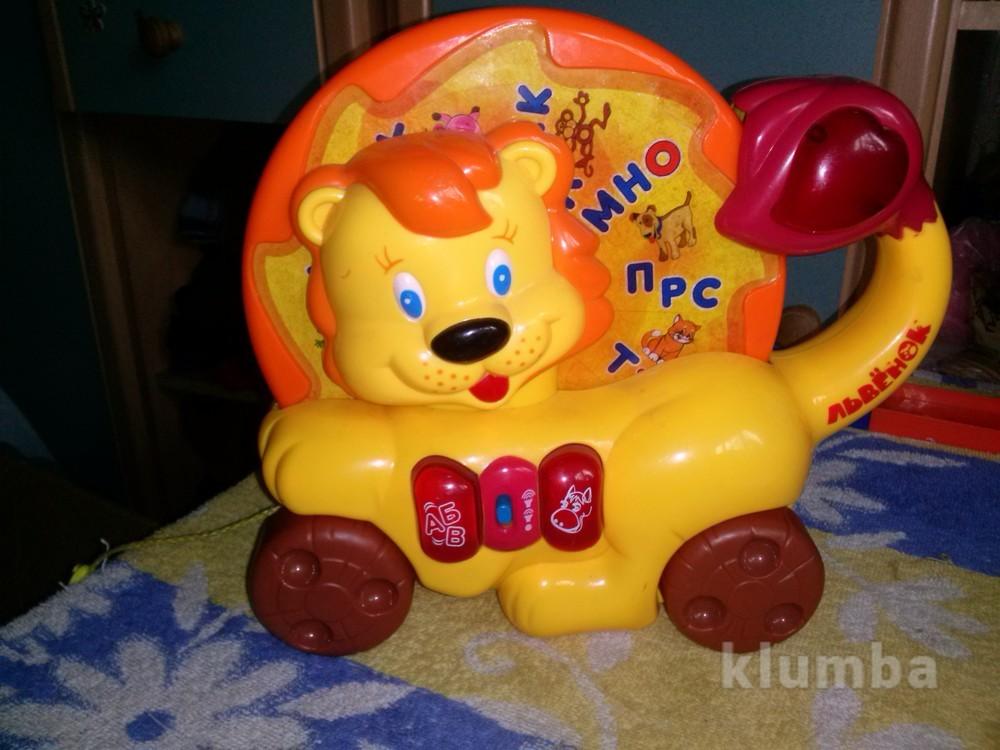 Каталка лев алфавит от joy toy фото №1