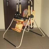 Напольные качели (2 в 1 ) регулируемая спинка, со столиком и бампером