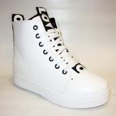 Ботиночки сникерсы белые Love Д428 р.37,38,40,41