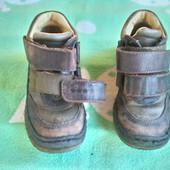 Кожаные ботинки для мальчика  по стельке 18 см.