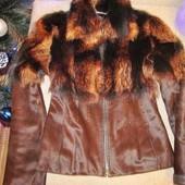 Шикарная куртка с мехом пони и волка!
