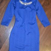 Платье стеганный трикотаж М