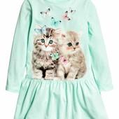 Платья H&M для девочек 4-10 лет