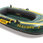 Надувная лодка Intex 68347 Seahawk 2 Set (236х114x41см.), двухместная