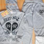 Спортивные утепленные новые костюмы на девочек 134 - 140, Grace