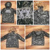 Стильная Курточка с капюшоном на рост 86-100 см. Натуральный мех
