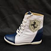 Сникерсы-ботинки корона черная IK-1484