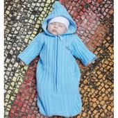 68см Комбинезон-конверт с капюшоном для новорожденного