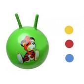 Мяч с рожками 45 см., 4 цвета, в пакете, 453501