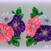 Резиночки из трех цветочков