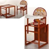 Виваст Бегемотик  MV 100 стульчик трансформер для кормления Vivast пластиковый столик