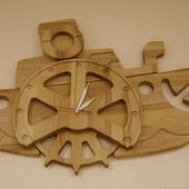 Часы Катерок Б-08, из натурального дерева, бесплатная доставка!