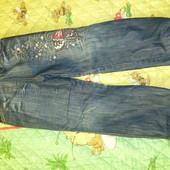 джинсы утепленные 128см