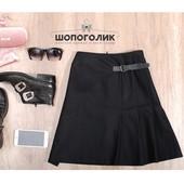 Теплая красивая черная юбка