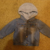 Крутая джинсовая куртка 2/1, ф.Baby Club,р.74.