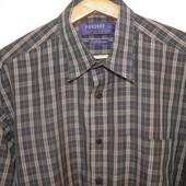 Рубашка  в клетку для мужчины 50-52 размер.