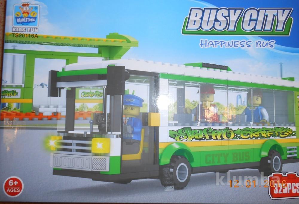 Конструктор городской автобус 325 деталей фото №1