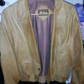 Кожанная куртка женская укороченная