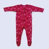 Хлопковый человечек на 9-12 месяцев Tutta, б/у. Хорошее состояние, без дефектов. Длина от плеча до п