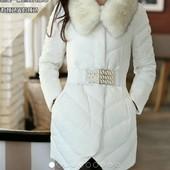 пуховик женский НАТУральный    куртка зимняя термо пальто сникерсы комбинезон монклер парка пуховая